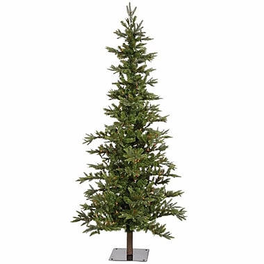 Vickerman Shawnee Fir 6' Green Alpine Artificial Christmas Tree w/ 250 Multicolored Lights w/ Stand