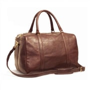 Aston Leather 16'' Leather Travel Duffel; Brown