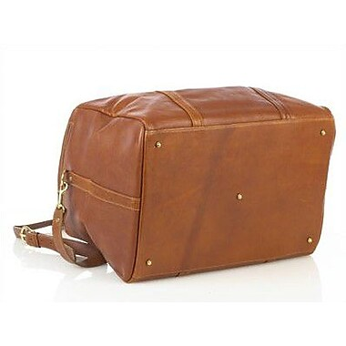 Aston Leather 16'' Leather Travel Duffel; Tan