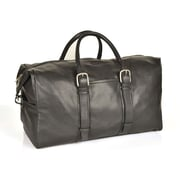 Aston Leather 20'' Leather Weekender Carry-On Duffel; Black