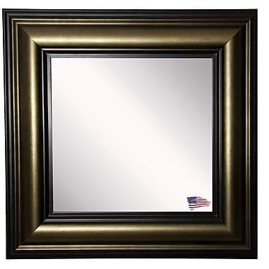 Rayne Mirrors Ava Stepped Antiqued Wall Mirror; 25'' W X 25'' H