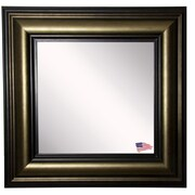 Rayne Mirrors Ava Stepped Antiqued Wall Mirror; 33'' W X 33'' H