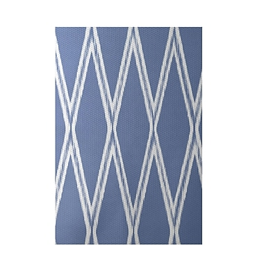 e by design Gate Keeper Geometric Print Blue Indoor/Outdoor Area Rug; Rectangle 2' x 3'