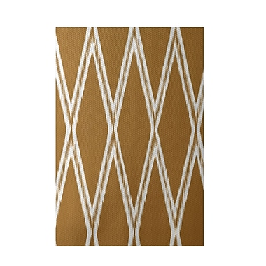 e by design Gate Keeper Geometric Print Amber Indoor/Outdoor Area Rug; 2' x 3'