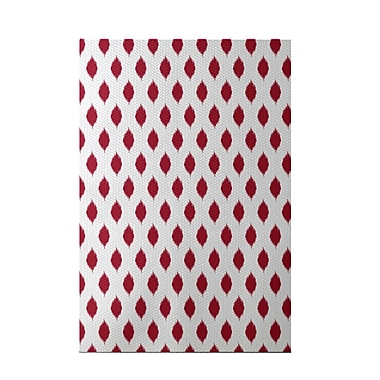 e by design Cop-Ikat Red Indoor/Outdoor Area Rug; Rectangle 2' x 3'