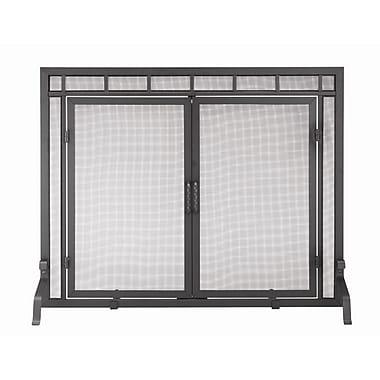 Minuteman 4 Panel Wrought Iron Fireplace Screen; 33'' H x 44'' W