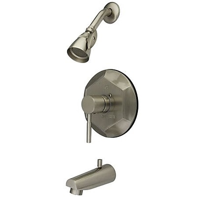 Kingston Brass Concord Single Handle Tub and Shower Faucet; Brushed Nickel