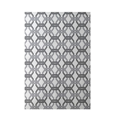e by design We're All Connected Geometric Print Classic Gray Indoor/Outdoor Area Rug; 3' x 5'