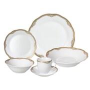 Lorren Home Trends Catherine 24 Piece Porcelain Dinnerware Set