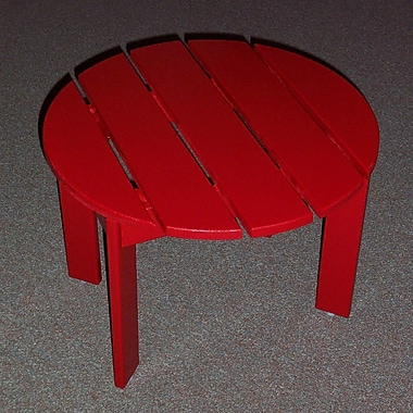 Prairie Leisure Design Side Table; Fire Engine Red