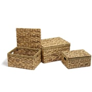 AdecoTrading 3 Piece Seagrass Chest Basket Set