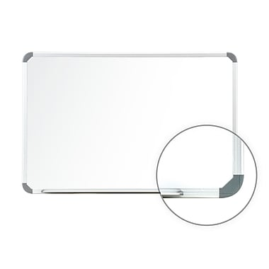 Ghent Ghent Cintra Magnetic Painted Steel Whiteboard w/ Euro Style Aluminum Frame; 1.5' x 2'