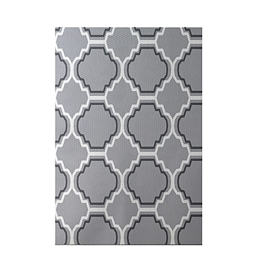 e by design Road to Morocco Geometric Print Gray Indoor/Outdoor Area Rug; Rectangle 3' x 5'