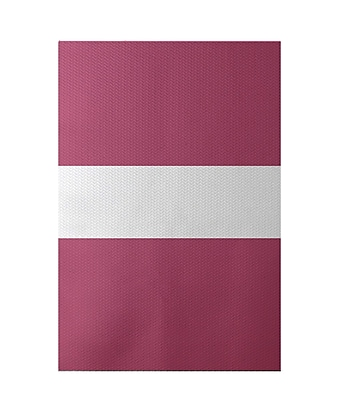 e by design Narrow the Gap Stripe Print Pink Cheeks Indoor/Outdoor Area Rug; Rectangle 3' x 5'