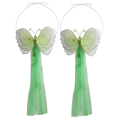 Bugs-n-Blooms Butterfly Curtain Tieback (Set of 2); Green
