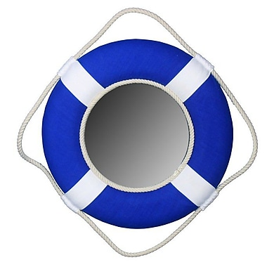 Handcrafted Nautical Decor Vibrant Life Ring Mirror