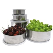 Imperial Home 10 Piece Stainless Steel Mixing Bowl Set; White