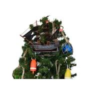 Henry Avery's Wooden the Fancy Pirate Ship Christmas Tree Topper Decoration