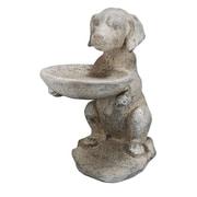 A&B Home French Chic Dog Decorative Tray Bird Feeder