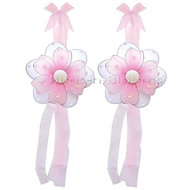 Bugs-n-Blooms Flower Curtain Tieback (Set of 2); Pink