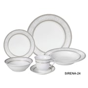 Lorren Home Trends Sirena 24 Piece Dinnerware Set