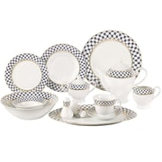 Lorren Home Trends Jeanette 57 Piece Porcelain Dinnerware Set, Service for 8