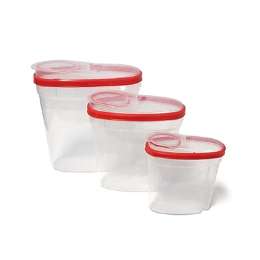 Imperial Home Plastic 3 Container Food Storage Set