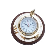 Handcrafted Nautical Decor Porthole 10'' Wall Clock