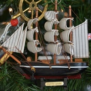Handcrafted Nautical Decor Cutty Sark Model Ship Christmas Tree Ornament
