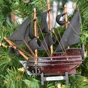Handcrafted Nautical Decor Bart's Royal Fortune Black Wooden Christmas Tree Ornament