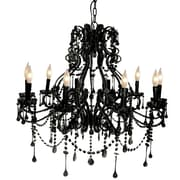 Pangea Home Isabella 10-Light Crystal Chandelier; Black