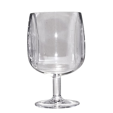 String Light Co Plastic 8 Oz. Goblet (Set of 12); Clear