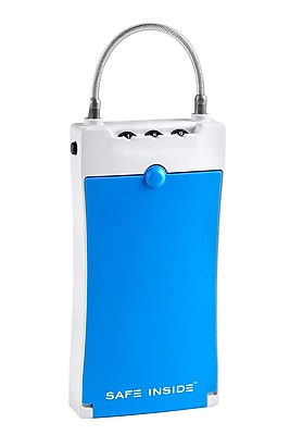 Safe Inside Digit Combination Lock Portable Security Case, Blue (4500B)
