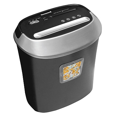 Honeywell 9112 12 Sheet Capacity Cross-Cut Personal Shredder, Black/Grey