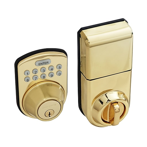 Honeywell Digital Door Lock and Deadbolt, Polished Brass (8612009)
