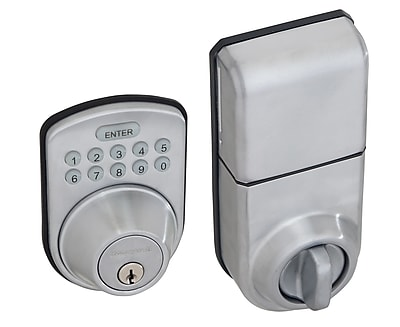 Honeywell Digital Door Lock and Deadbolt, Satin Chrome (8612309)