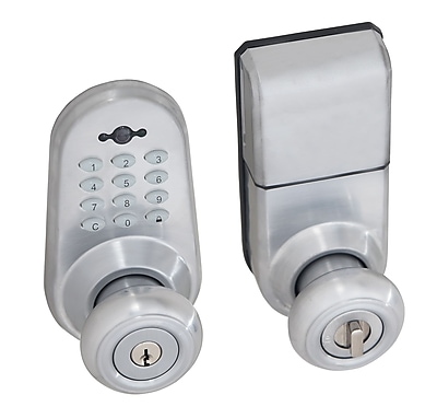 Honeywell Digital Door Lock Entry Knob with Remote, Satin Chrome (8632301)