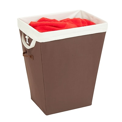Honey Can Do Rectangular Hamper with Removable Liner, tan/brown (HMP-02343)