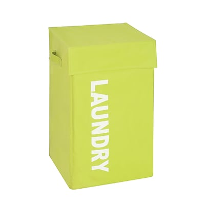 Honey Can Do Graphic Laundry Hamper with Lid, green (HMP-04060)