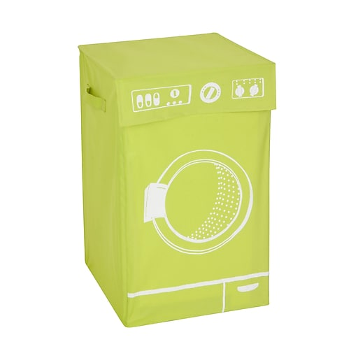 Honey Can Do Graphic Washing Machine Laundry Hamper, Lime