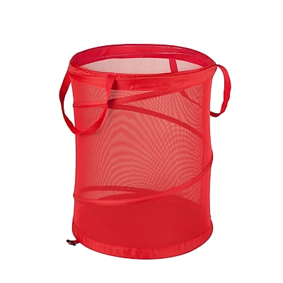 Honey Can Do Medium Mesh Pop Open Hampers, Red 2/Pack (HMPZ01263)
