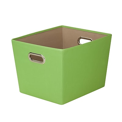 Honey Can Do Medium Decorative Storage Tote with Handles, green (SFT-03075)