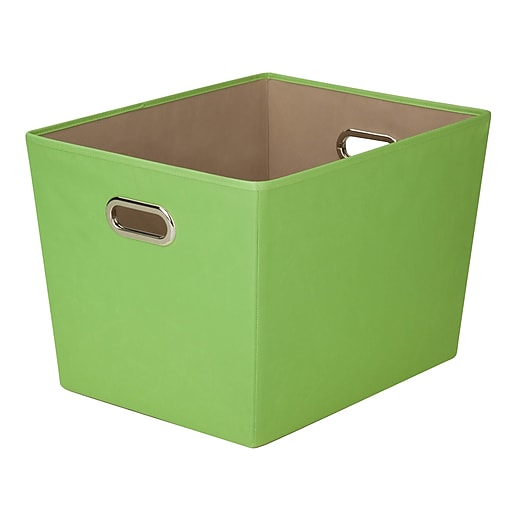 Honey Can Do Large Decorative Storage Tote with Handles, green (SFT-03076)