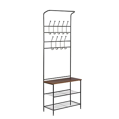 Honey Can Do Entryway Storage Valet Black/Cherry (SHF-03423)