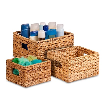 Honey Can Do 3-Pack Nesting Natural Baskets, natural / brown (STO-02882)