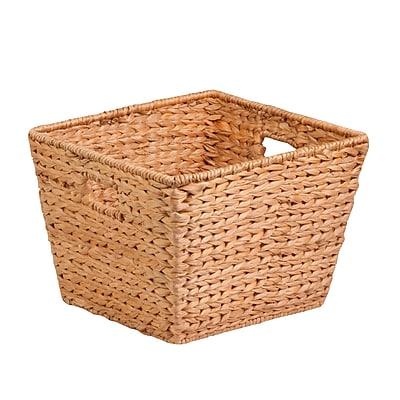 Honey Can Do Large Tall Square Water Hyacinth Basket, natural / brown (STO-02884)
