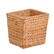 Honey Can Do Medium Tall Square Water Hyacinth Basket, natural / brown (STO-02886)