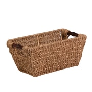 Honey Can Do Small Seagrass Basket with Handles, natural / brown (STO-02964)