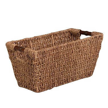 Honey Can Do Medium Seagrass Basket with Handles, natural / brown (STO-02965)
