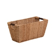 Honey Can Do Large Seagrass Basket with Handles, natural / brown (STO-02966)